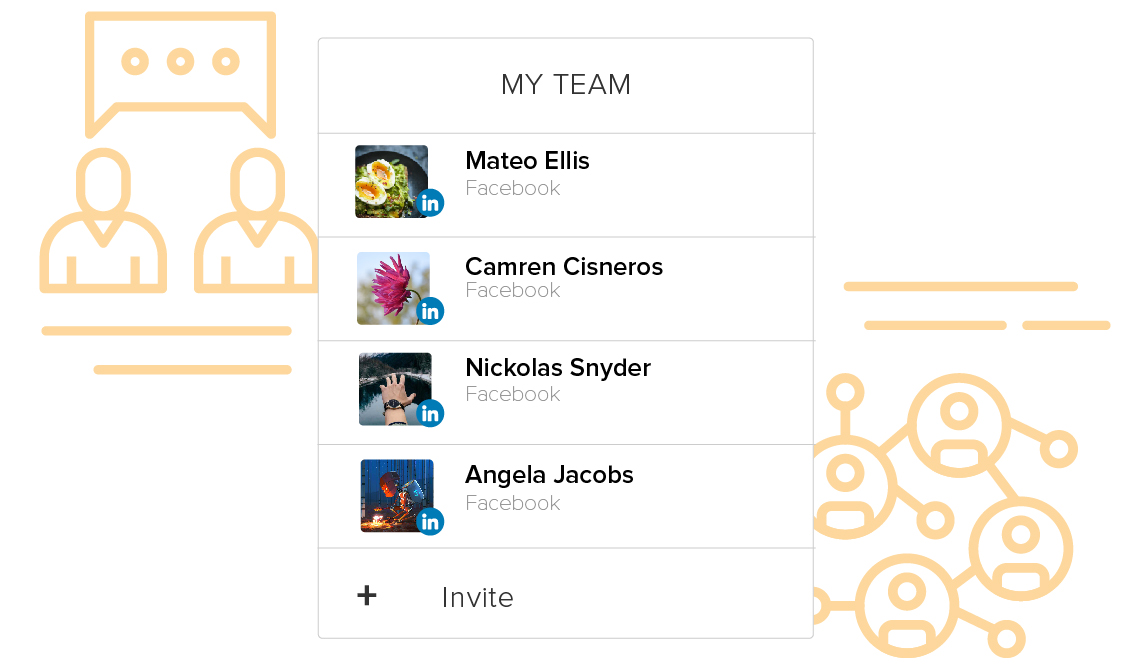 Share LinkedIn Profiles with team
