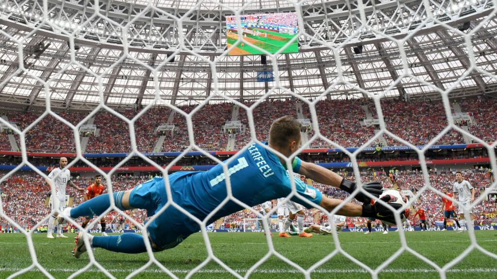 Spain was swept out by Russia