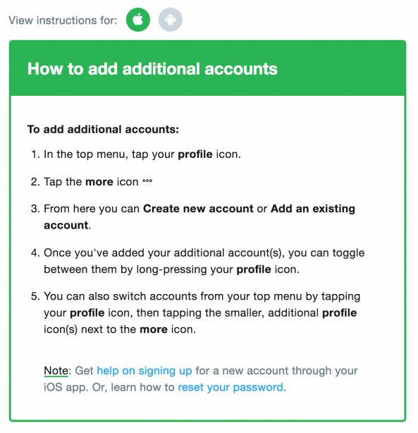 multiple Twitter accounts settings for iOS users