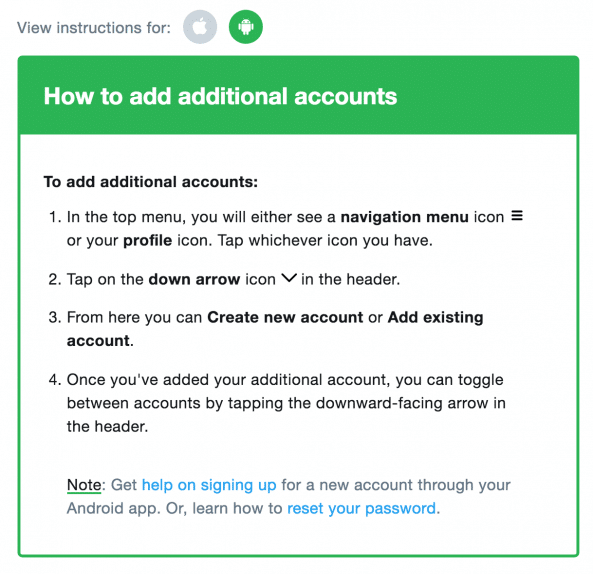 multiple Twitter accounts settings for android users