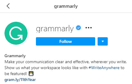 Grammarly - instagram tips and tricks