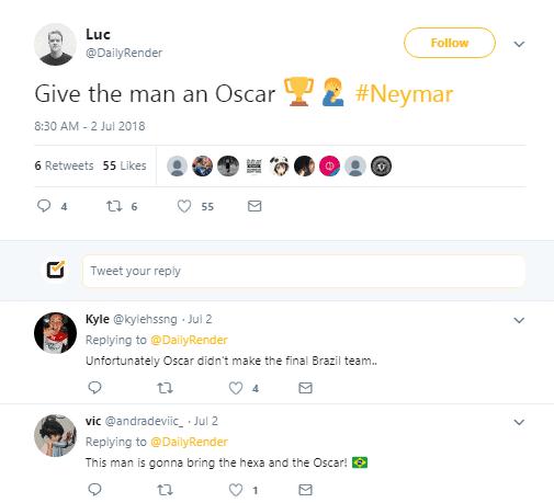 neymar acting reactions
